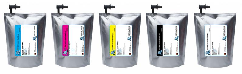 XL PRO UV inkt 2 liter zakken voor de Oce Arizona en FUJI Acuity Flatbedprinters  XL PRO UV inkt 2 literzak is een UV inkt die compatible is met de Oce IJC-256 inkt en Uvijet KI